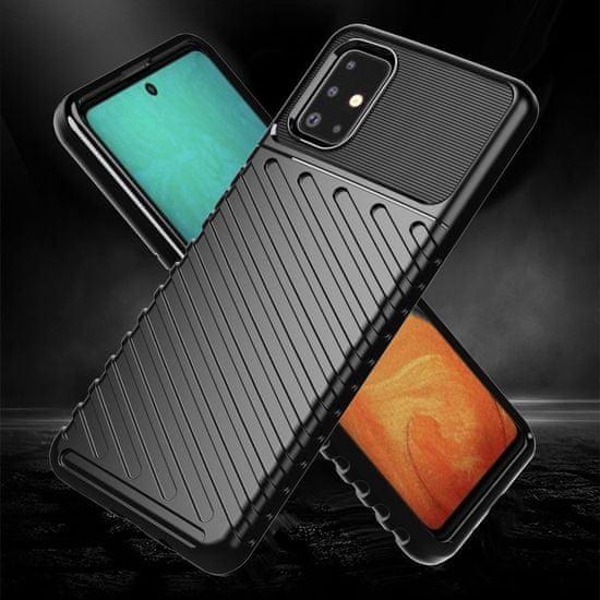 MG Thunder szilikon tok Samsung Galaxy A21S, fekete