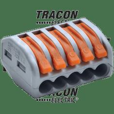 Tracon Electric Svorka wago 222-415 bezšroubová s páčkou 5x2,5-4mm2