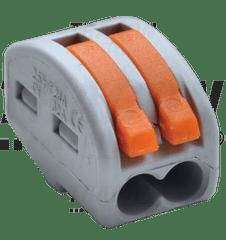 Tracon Electric Svorka wago 222-412 bezšroubová s páčkou 2x2,5-4mm2