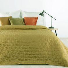 My Best Home Přehoz na postel HEXAGON 220x240 cm hořčicová