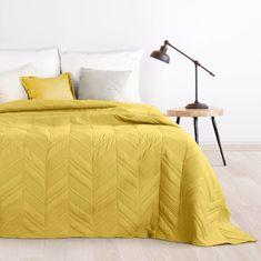 My Best Home Přehoz na postel VILMA 220x240 cm hořčicová