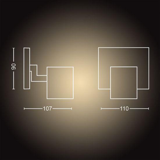 Philips Hue Runner SVIETIDLO BODOVÉ LED, GU10, 5 W, 350 lm, 2200-6500 K, čierna BT (53090/30/P6)