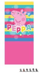 "Eplusm Otroški šal ""Peppa Pig"" - roza - 24x56cm"