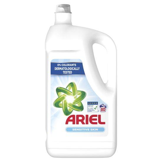 Ariel tekoči detergent Sensitive, 80 pranj
