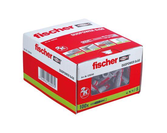 Fischer Hmoždinky DuoPower 6x50 - 100ks