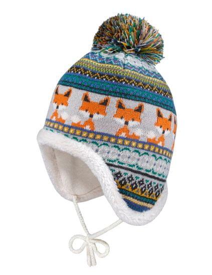 Maximo chlapčenská pletená čiapka s brmbolcom a zaväzovaním