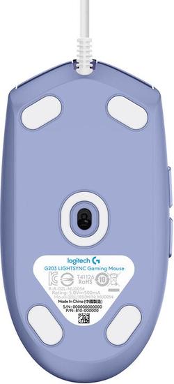 Logitech G102 Lightsync, fialová (910-005854)