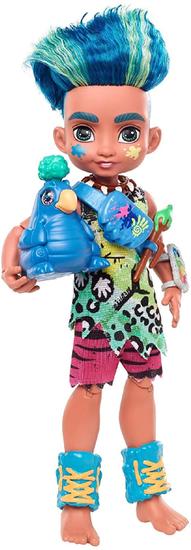 Mattel Cave Club Lalka ze zwierzątkiem Dino Slate