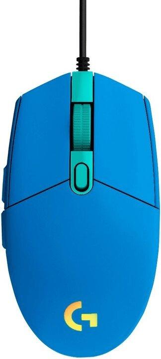 Logitech G102 Lightsync, modrá (910-005801)
