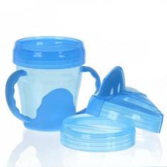 Vital Baby Dětský výukový 3 dílný hrnek 200 ml, modrý