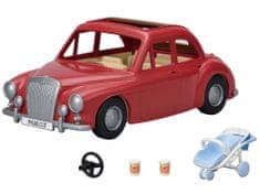 Sylvanian Families Családi piros utazó autó babakocsival és autósüléssel