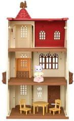 Sylvanian Families hiša s stolpom in rdečo streho 5400