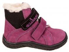Medico buty zimowe za kostkę dziewczęce, skórzane EX4867/M129 24 fioletowe