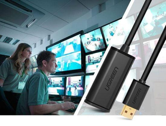 Ugreen USB 2.0 podaljšek z ojačevalcem, 10 m