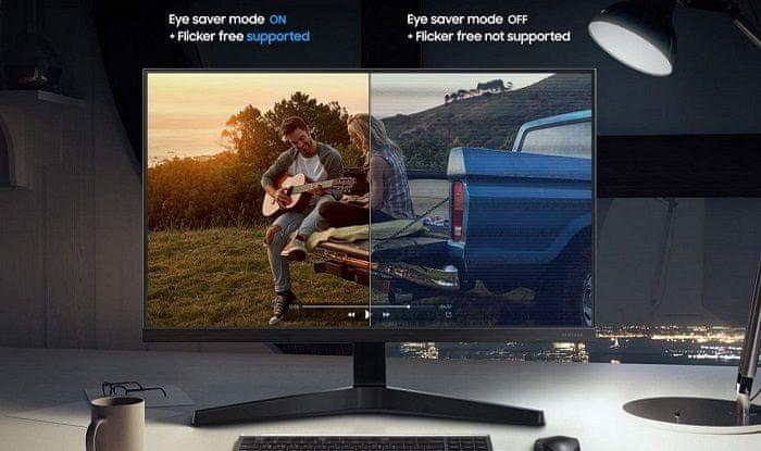 monitor Samsung T35F (LF24T350FHUXEN) LowBlue Light flicker-free ochrana zraku redukce modrého světla