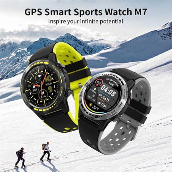 Wotchi GPS Smartwatch W70Y s kompasom, barometrom a višinometrom - Grey