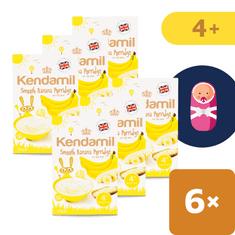 Kendamil 6x Jemná dětská banánová kaše (125 g)