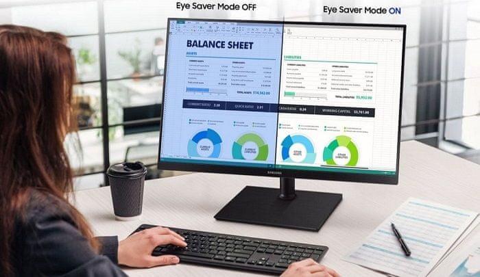 monitor Samsung T85F (LF27T850QWUXEN) LowBlue Light flicker-free zaštita za oči smanjuje plavo svjetlo