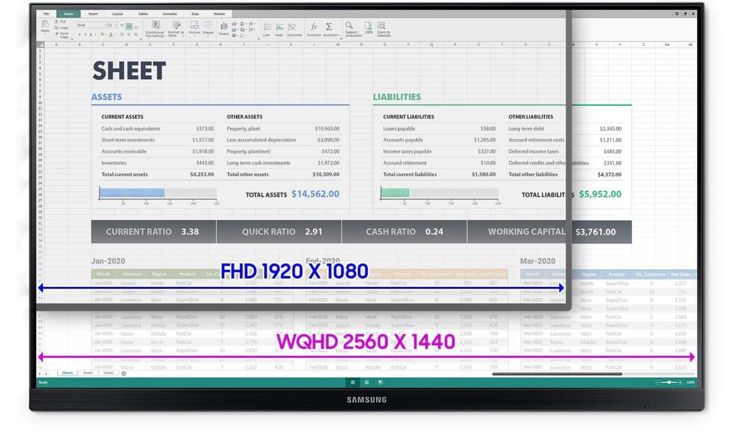 monitor Samsung T85F (LF27T850QWUXEN) IPS 24-inčni gaming zaslon
