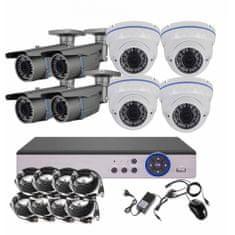 Eonboom 8CH 5MPx STARVIS kamerový set CCTV VR4+4W - DVR s LAN a 4+4 venkovní vari bullet/dome kamery