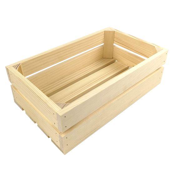 AMADEA Dřevěná bedýnka z masivního dřeva, 32x19x10 cm