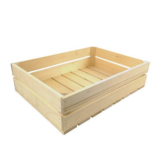 AMADEA Dřevěná bedýnka z masivního dřeva, 46x33x12 cm