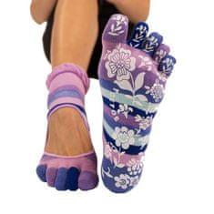 TOETOE Dámské YOGA & PILATES prstové ponožky na cvičení SERENE, 35-38, fialová