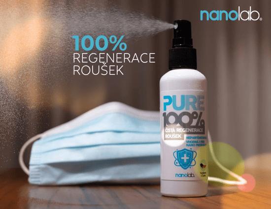 Nanolab PURE 100% regenerace roušek a respirátorů 100 ml