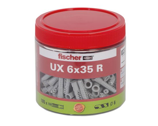 Fischer hmoždinky UX 6x35R v dóze - 185ks