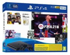 Sony PlayStation 4 Slim igraća konzola, 500 GB + FIFA 21 + DualShock 4