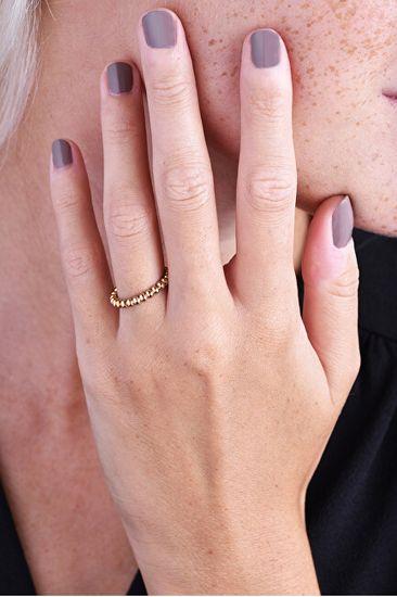 Troli Eleganckiróżowe pozłacanykoralikowa pierścień