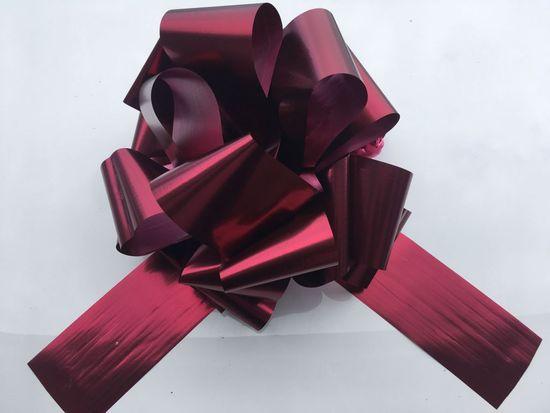Mega mašle - červená matná - 35 cm - Vánoce