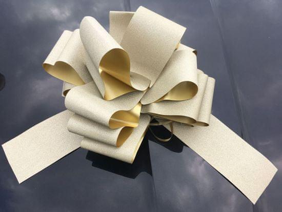 Mega mašle - zlatá - 35 cm - Vánoce