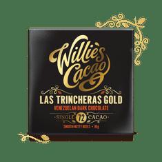 Willies Cacao Čokoláda Venezuelan Gold, Las Trincheras hořká 72%, 50g