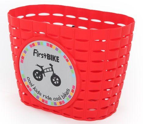 First BIKE Košík na řidítka červený - rozbaleno