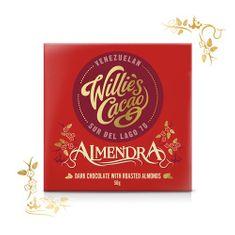 Willies Cacao Čokoláda Almendra hořká s mandlí 70%, 50g