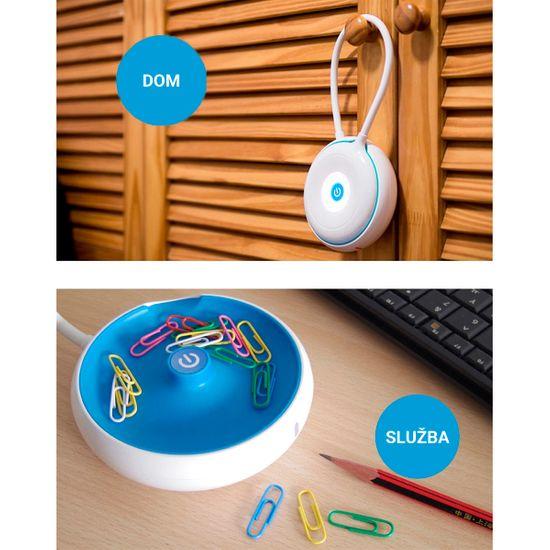 Platinet PDL03 namizna LED svetilka, na dotik, 3 stopnje, belo-modra