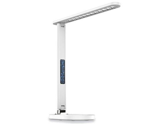 Platinet PDL081D stolna LED svjetiljka, 700 lumena, na dodir, LCD zaslon, bijela