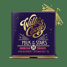 Willies Cacao Čokoláda mléčná MILK OF THE STARS, Indonesian Surubaya 54%, 50g