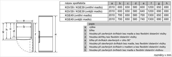 Bosch lednice KGV39VWEA