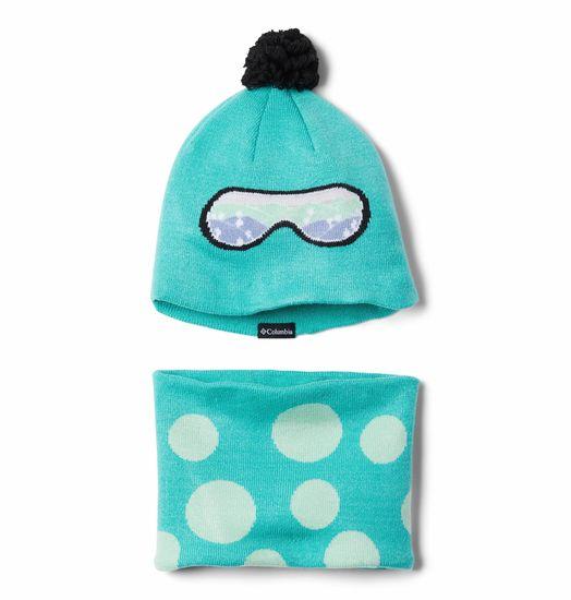COLUMBIA detská čiapka a nákrčník Youth Snow More Hat modrá uni