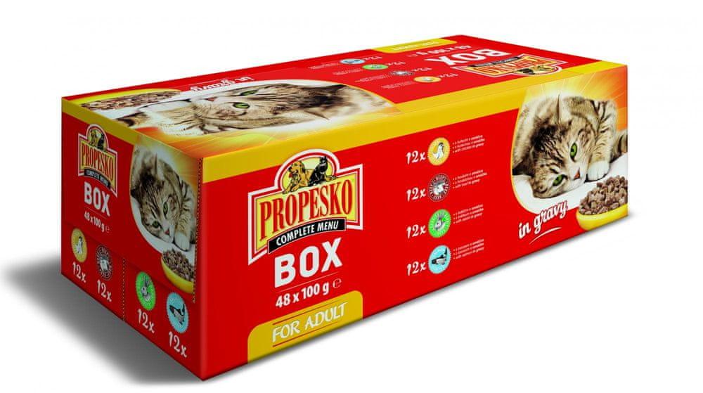 Propesko kapsa kočka XXL Pack mix 48x100 g