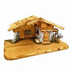 AMADEA Dřevěný betlém BEZ FIGUREK 50 cm