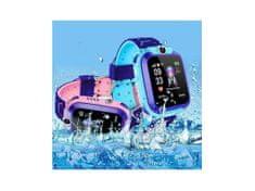 commshop Dětské chytré hodinky s GPS lokátorem - růžové