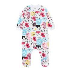 Garnamama dekliška pižama pajac, bela, 74