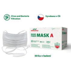 Batist NANO fiber 4-VRSTVÁ rouška - 50 ks, ÚVAZKY