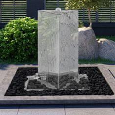 shumee Zahradní fontána s čerpadlem nerezová ocel 76 cm trojúhelníková