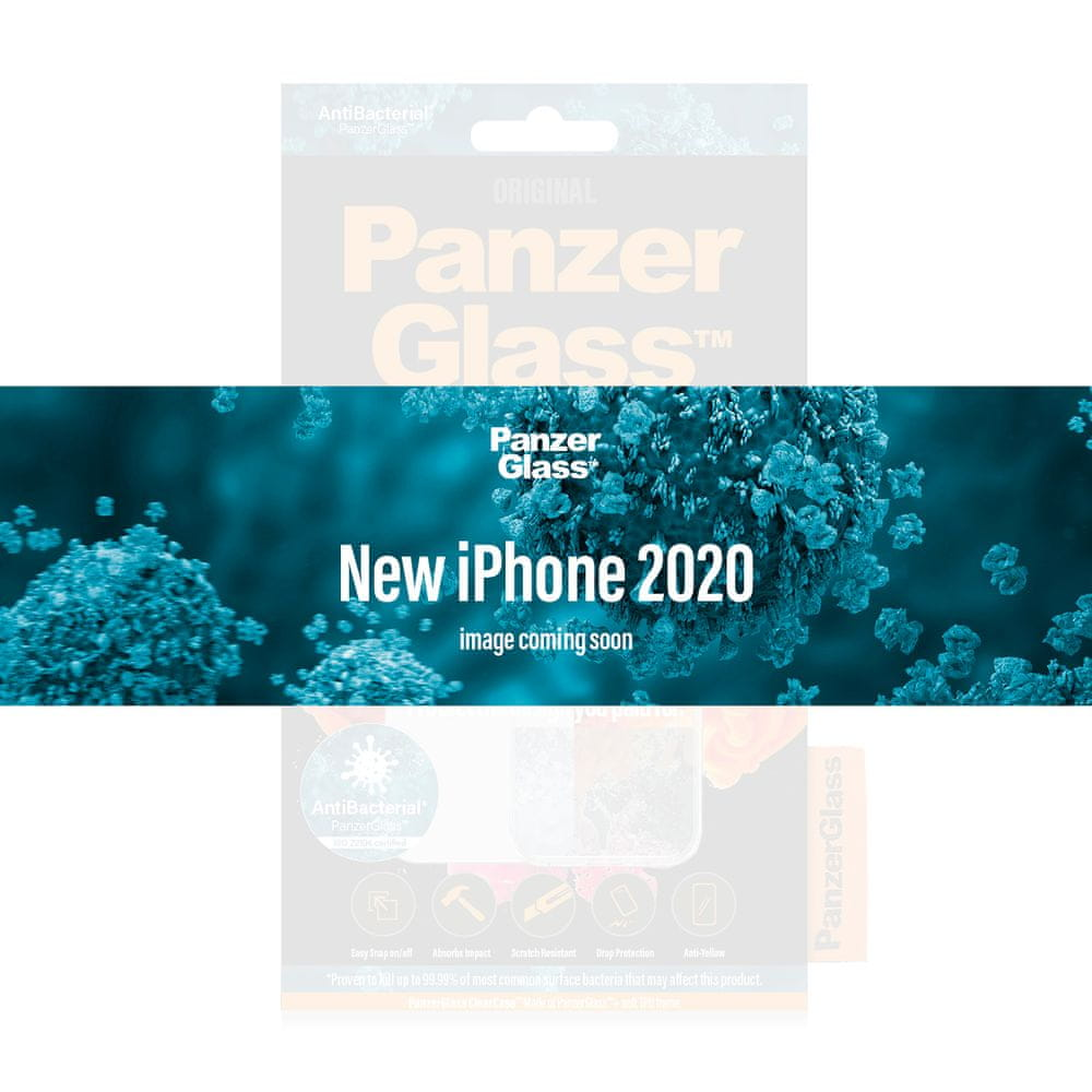 PanzerGlass ClearCase Antibacterial pro Apple Phone 12 Mini 5,4″ Black Edition 0251