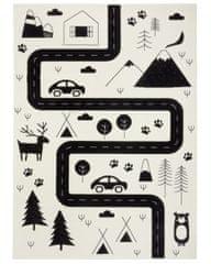 Hanse Home Detský koberec Adventures 104564 Cream/black 80x150