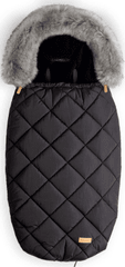BEZTROSKA Fusak s kožešinou 100cm (5-24m) / M, black